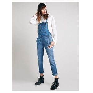 FREE PEOPLE Overalls Denim ASO Double Pocket Blue